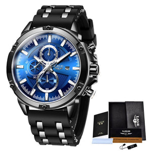2020 New Mens Watches Top Brand Luxury Watch Men Military Waterproof Silicone strap Quartz Wrist Watch For Men Sport Chronograph