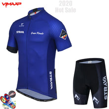 Load image into Gallery viewer, 2020 New STRAVA Summer Cycling Jersey Set Breathable Team Racing Sport Bicycle Jersey Mens Cycling Clothing Short Bike Jersey NW
