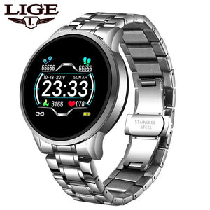 LIGE 2020 New Smart Watch Men Pedometer Heart Rate Blood Pressure Monitor Sport Smartwatch Information Reminder For Android IOS