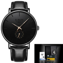 Load image into Gallery viewer, LIGE 2020 New Fashion Sports Mens Watches Top Brand Luxury Waterproof Simple Ultra-Thin Watch Men Quartz Clock Relogio Masculino