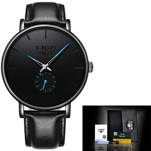 LIGE 2020 New Fashion Sports Mens Watches Top Brand Luxury Waterproof Simple Ultra-Thin Watch Men Quartz Clock Relogio Masculino