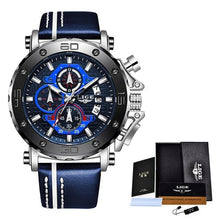 Load image into Gallery viewer, 2020 Top Brand LIGE Men Watches Fashion Sport Leather Watch Mens Luxury Date Waterproof Quartz Chronograph Relogio Masculino+Box