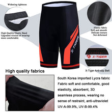 Load image into Gallery viewer, X-Tiger Coolmax 5D Padded Cycling Shorts Shockproof MTB Bicycle Shorts Road Bike Shorts Ropa Ciclismo Tights For Man Women