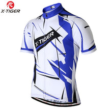 Load image into Gallery viewer, X-Tiger Summer Short sleeve Cycling Jersey Set Breathable Quick drying Cycling Clothing Racing Bicycle Wear MTB Bike Clothes Set