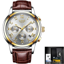 Load image into Gallery viewer, LIGE Watch For Men Top Brand Luxury Waterproof 24 Hour Date Quartz Clock Brown Leather Sports WristWatch Relogio Masculino 2020
