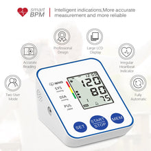 Load image into Gallery viewer, Blood Pressure Monitor Upper Arm Automatic Digital Blood Pressure Monitor Cuff Home BP Sphygmomanometers with Large LCD Display
