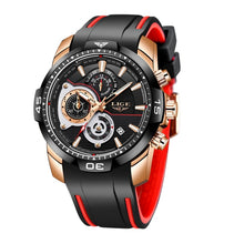 Load image into Gallery viewer, 2020 LIGE Mens Watches Top Brand Luxury Casual Leather Quartz Clock Male Sport Waterproof Watch Gold Watch Men Relogio Masculino