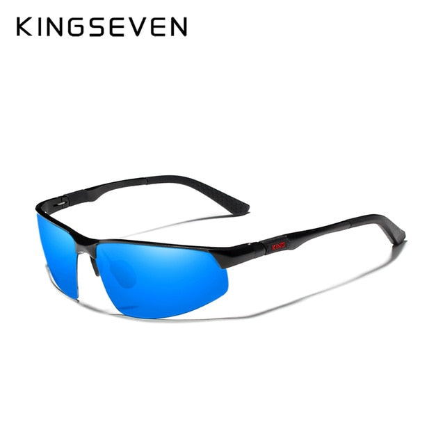 KINGSEVEN Driving Series Polarized Men Aluminum Sunglasses Blue Mirror Lens Male Sun Glasses Aviation Women For Men Eyewear 9121