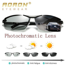 Load image into Gallery viewer, AORON Photochromic Polarized Sunglasses Men Discoloration Eyewear Anti Glare UV400 Glasses Driving Goggles Oculos