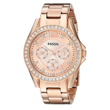 Load image into Gallery viewer, Fossil Watch Women Riley Multifunction Rose-Tone Stainless Steel Watch Luxury Quartz Wrist Watches for Ladies ES2811