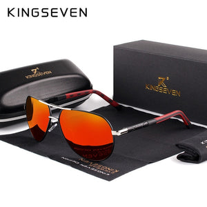 7-Day Delivery KINGSEVEN Vintage Aluminum Polarized Sunglasses Brand Sun glasses Coating Lens Driving EyewearFor Men/Wome N725
