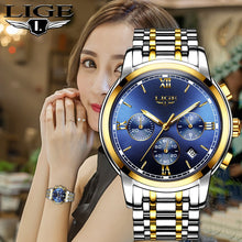 Load image into Gallery viewer, 2020 LIGE New Rose Gold Women Watch Business Quartz Watch Ladies Top Brand Luxury Female Wrist Watch Girl Clock Relogio Feminin