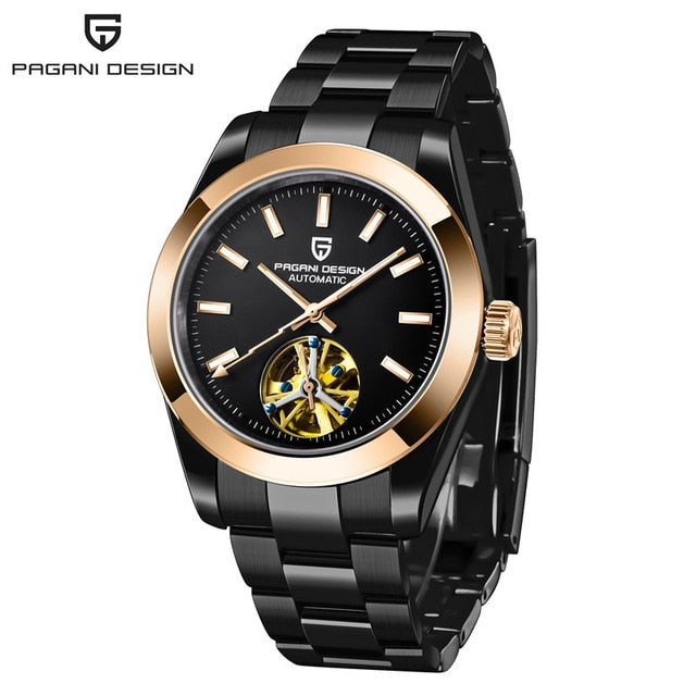 PAGANI DESIGN Top Brand Business Waterproof Mechanical Watch Stainless Steel Men Watch Sapphire Glass Tourbillon Automatic Watch