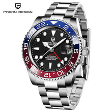 Load image into Gallery viewer, PAGANI DESIGN GMT Watch Sapphire Glass 40mm Automatic Mechanical Men's Watches 100M Waterproof Man Watch relogio masculino
