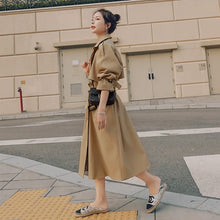 Load image into Gallery viewer, Brand New Spring Autumn Long Women Trench Coat Double Breasted Belted Storm Flaps Khaki Dress Loose Coat Lady Outerwear Fashion
