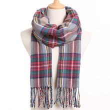 Load image into Gallery viewer, [VIANOSI] 2020 Plaid Winter Scarf Women Warm Foulard Solid Scarves Fashion Casual Scarfs Cashmere Bufandas Hombre