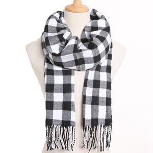 [VIANOSI] 2020 Plaid Winter Scarf Women Warm Foulard Solid Scarves Fashion Casual Scarfs Cashmere Bufandas Hombre