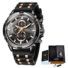 Load image into Gallery viewer, 2020 LIGE Fashion Sport Watch Men Waterproof Mens Watches Top Brand Luxury Quartz Relogio Masculino Reloj Hombre Silicone Strap