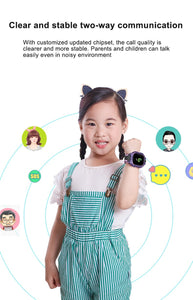S19 Kids SmartWatch LBS Tracker Waterproof SOS Call For Children Anti Lost Monitor Baby Wristwatch  Smart Watch For Boy Girls