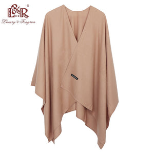 2020 New Fashion Cashmere Winter Women Poncho Scarves Women Solid Shawl Cape Foulard Femme Pashmina Female Bufanda Mujer Sjaal