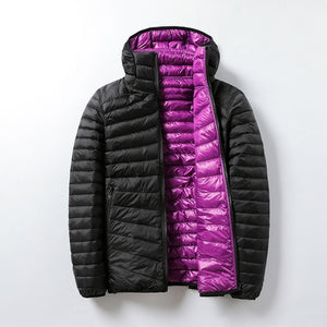Women's Jackets Brand Down Jackets Women Ultra Light Hooded Basic Jacket Feather Famale Jackets Double Side Reversible Warm Coat