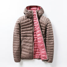 Load image into Gallery viewer, Women's Jackets Brand Down Jackets Women Ultra Light Hooded Basic Jacket Feather Famale Jackets Double Side Reversible Warm Coat