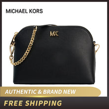 Load image into Gallery viewer, Authentic Original & Brand new MICHAEL KORS Large Crossgrain Leather Dome Crossbody Bag Women's Bag Womens' pouch 32S9GF5C3L