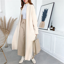 Load image into Gallery viewer, LANMREM 2020 Alpaca Knit Cardigan Jacket Women Autumn And Winter New Wild Mid-length Sweater Loose And Thick PC285