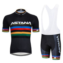 Load image into Gallery viewer, Cycling Jersey Set 2020 Pro Team Astana summer Bicycle Cycling Clothing Bike Clothes Men Mountain Sports bike Set Cycling Suit