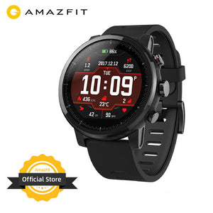 Original Amazfit Stratos Smartwatch Smart Watch Bluetooth GPS Calorie Count Heart Monitor 50M Waterproof for Android iOS Phone