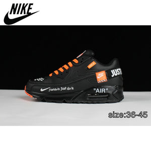 Cushioning Outdoor Fitness NIKE AIR MAX 90 Women's Running Shoes Red Sneakers Man Thick Sole Lace Up Adult Athletic Trainer
