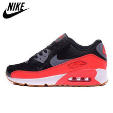 Load image into Gallery viewer, Cushioning Outdoor Fitness NIKE AIR MAX 90 Women's Running Shoes Red Sneakers Man Thick Sole Lace Up Adult Athletic Trainer