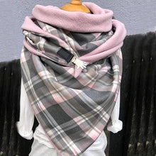 Load image into Gallery viewer, 2020 Fashion Winter Women Scarf Soild Dot Printing Button Soft Wrap Casual Warm Scarves Shawls Scarf Women шарф бандана