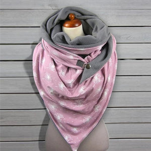 2020 Fashion Winter Women Scarf Soild Dot Printing Button Soft Wrap Casual Warm Scarves Shawls Scarf Women шарф бандана