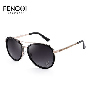 2019 new outdoor polarized sunglasses women's fashion stainless steel round frame sunglasses