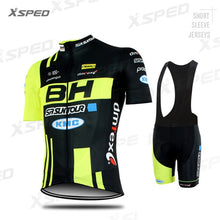 Load image into Gallery viewer, NEW Cycling Clothing BH Pro Team Men Short Sleeve Jersey Set Summer Road Bike Sportswear Race Bicycle Uniform Triathlon Skinsuit