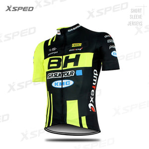 NEW Cycling Clothing BH Pro Team Men Short Sleeve Jersey Set Summer Road Bike Sportswear Race Bicycle Uniform Triathlon Skinsuit