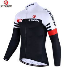 Load image into Gallery viewer, X-Tiger Long Sleeve Cycling Jersey Set Spring MTB Bike Wear Cycling Clothes Ropa Maillot Ciclismo Cycling Set Bicycle Clothing