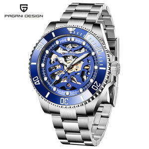 PAGANI DESIGN Top Brand Men Mechanical Watch Waterproof Stainless Steel Automatic Watch Sapphire Glass Watch Men Reloj Hombre