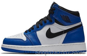 Original Nike Air Jordan 1 Retro High Shadow 2018 High-top  Basketball Shoes Men Women Unisex Outdoor Sneakers 555088-013