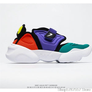 "original Nike Aqua Rift ""Summit White"" Nike split toe shoes second generation old shoes women's sports shoes size 36-39"