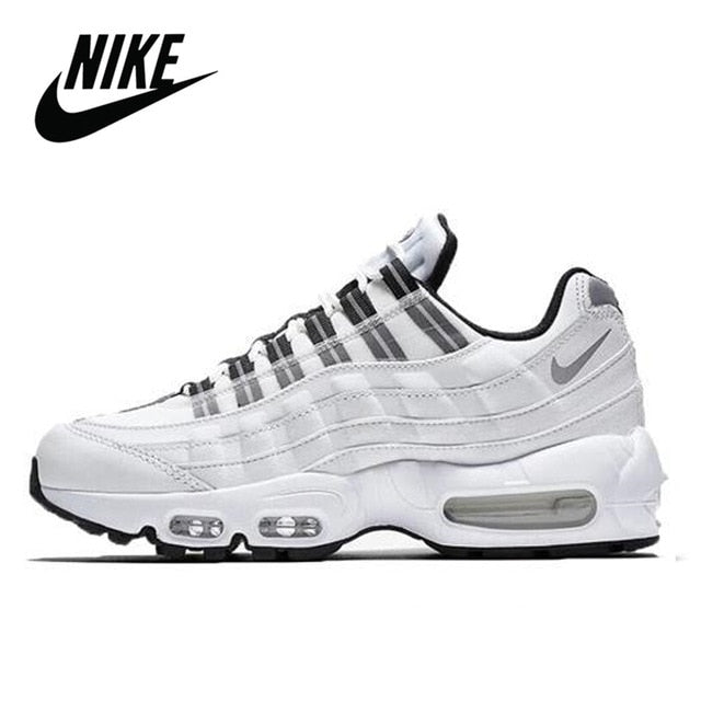 Nike Air Max 95 Just Do It Pack White Alphabet Original Running Shoes for Men Outdoor Sports Jogging Comfortable Women Sneaker