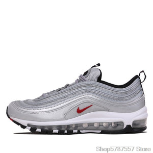 Original Authentic Nike Air Max 97 OG QS Silver Bullet Men's Sneakers Breatheable Running Shoes 312834-401