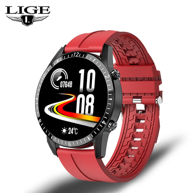 LIGE Bluetooth Phone Smart Watch Men Waterproof Sports Fitness Watch Health Tracker Weather Display 2020 New smartwatch Woman