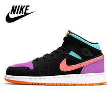Load image into Gallery viewer, Original Nike Air Jordan 1 Mid Digital Pink GS Basketball Shoes Women's Basketball Sneakers Breathable Outdoor Nike Jordan 1 Mid