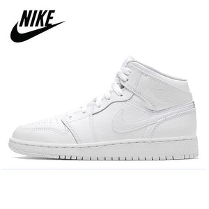 Original Nike Air Jordan 1 Mid Digital Pink GS Basketball Shoes Women's Basketball Sneakers Breathable Outdoor Nike Jordan 1 Mid