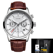 Load image into Gallery viewer, Relogio Masculino LIGE 2020 New Watch Men Fashion Sport Quartz Wacth Mens Watches Brand Luxury Leather Business Waterproof Clock