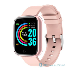 Fashion Stainless Steel Smart Watch Women Men Electronics Sport Wrist Watch For Android IOS Square Smartwatch Smart Clock Hours
