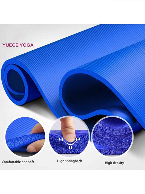 183*61*1.5cm Yoga Mats With Body Line Thick Hot Yoga Pilates Gymnastics Mats Balance Pad Fitness Non-Slip Folding Exercise Mat