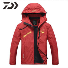 Load image into Gallery viewer, Fishing Suit Men Spring Autumn Thin Fishing Clothing Hooded Sports Hiking Fishing Jacket Outdoor Clothes Fishing Wear